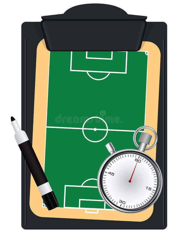 Treinador ajustado para o futebol ilustração royalty free