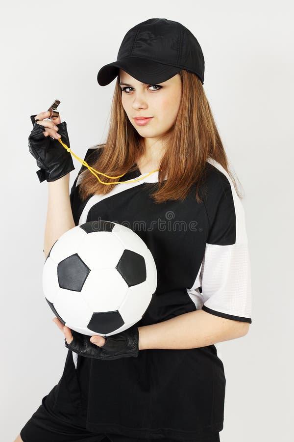 Treinador de futebol fotografia de stock