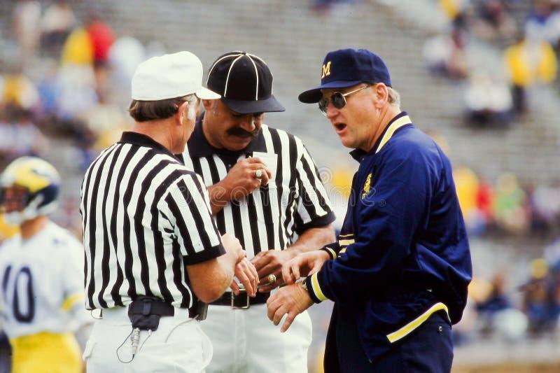 Treinador de futebol da BO Schembechler Michigan imagens de stock royalty free