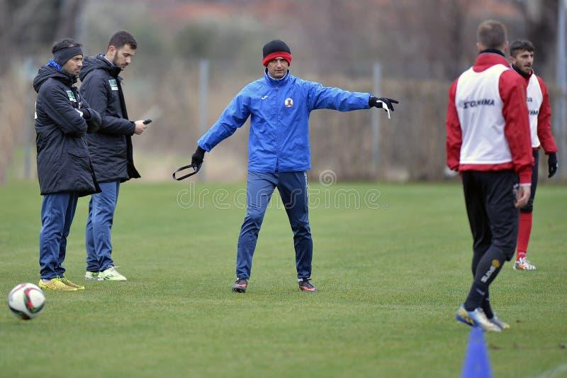 Treinador de futebol - Razvan Lucescu foto de stock royalty free
