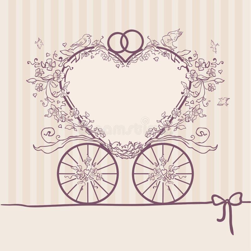 Treinador do convite do casamento Molde do projeto ilustração royalty free