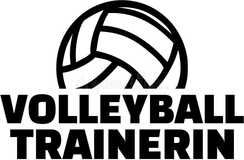 Treinador fêmea do voleibol ilustração royalty free