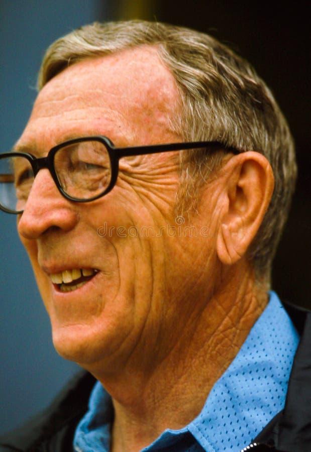Treinador John Wooden imagens de stock royalty free