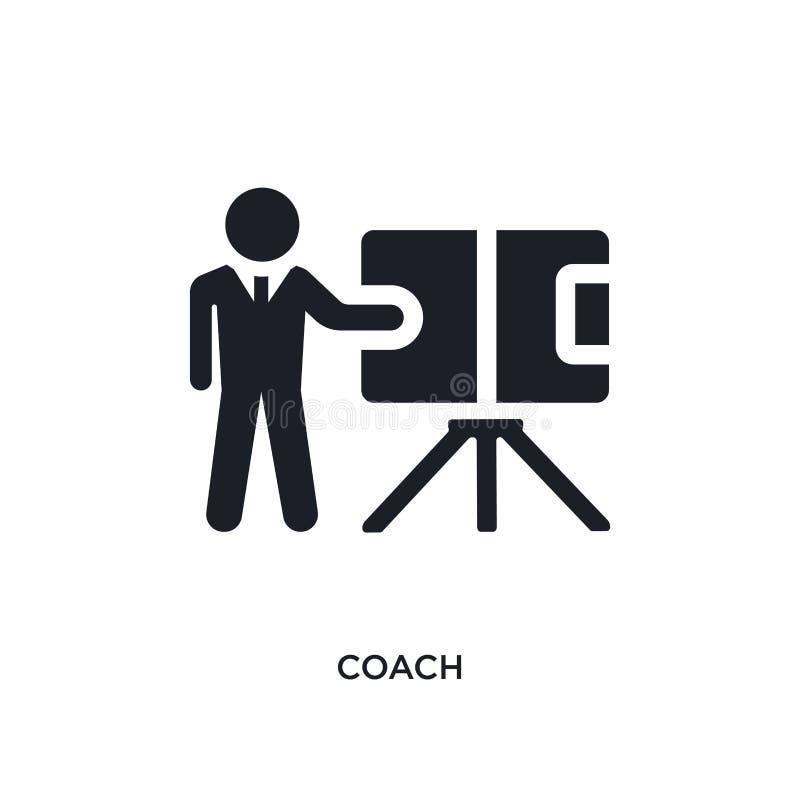 treinador preto ícone isolado do vetor ilustração simples do elemento dos ícones do vetor do conceito do futebol símbolo preto ed ilustração do vetor