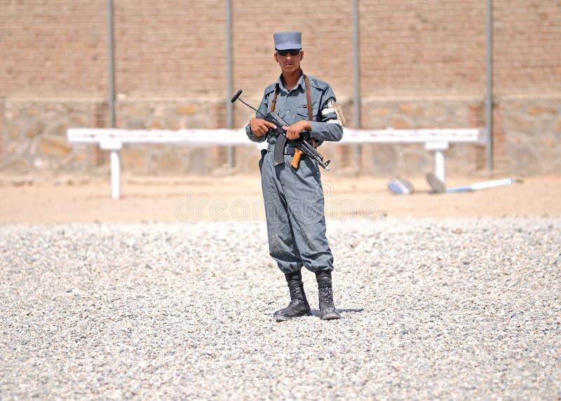 Treinamento 5 dos polícias afegãos fotografia de stock