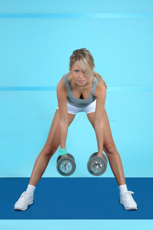 Treinamento atlético imagens de stock