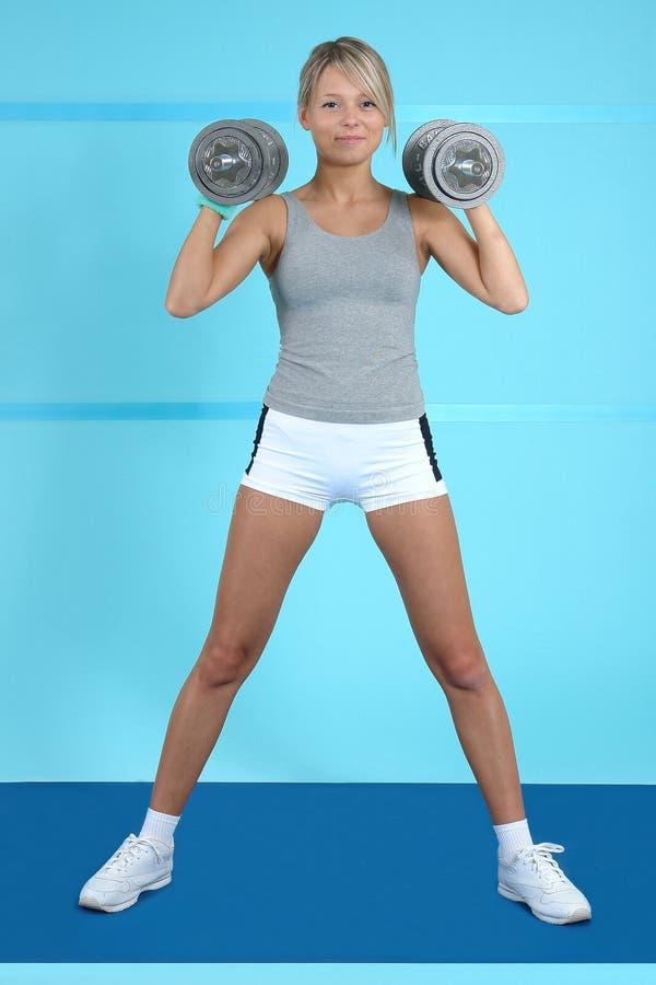 Treinamento atlético foto de stock
