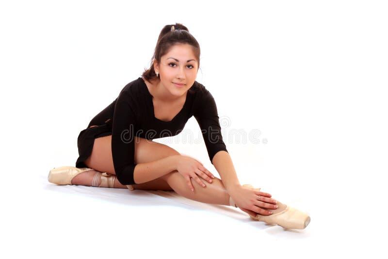 Treinamento da bailarina imagem de stock