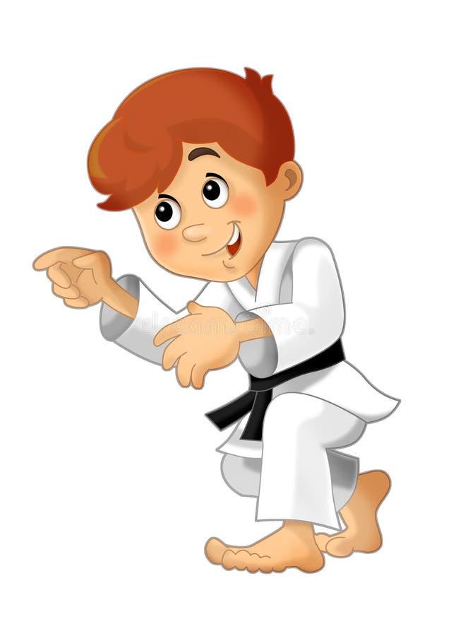 Treinamento da criança dos desenhos animados - ilustração para as crianças ilustração do vetor