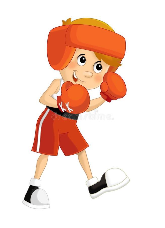 Treinamento da criança dos desenhos animados - ilustração para as crianças ilustração stock