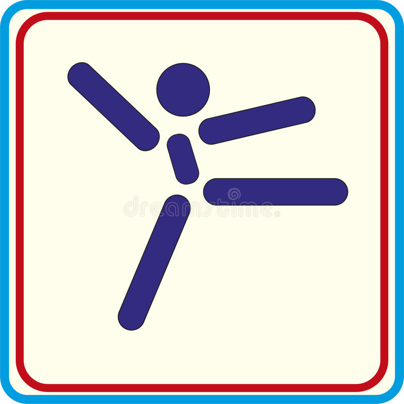 Treinamento da ginasta do esporte, ícone, ilustrações ilustração royalty free