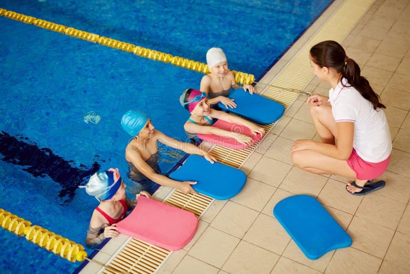 Treinamento da nadada imagens de stock royalty free