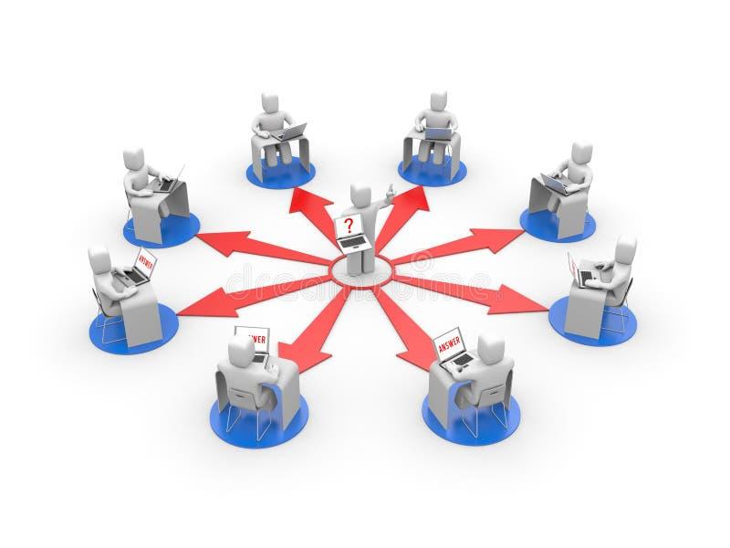 Treinamento de distância ou conceito do treinamento em linha ilustração royalty free