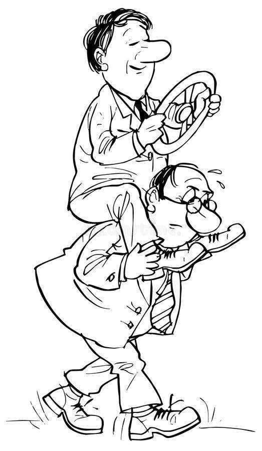 Treinamento de pessoais ilustração stock