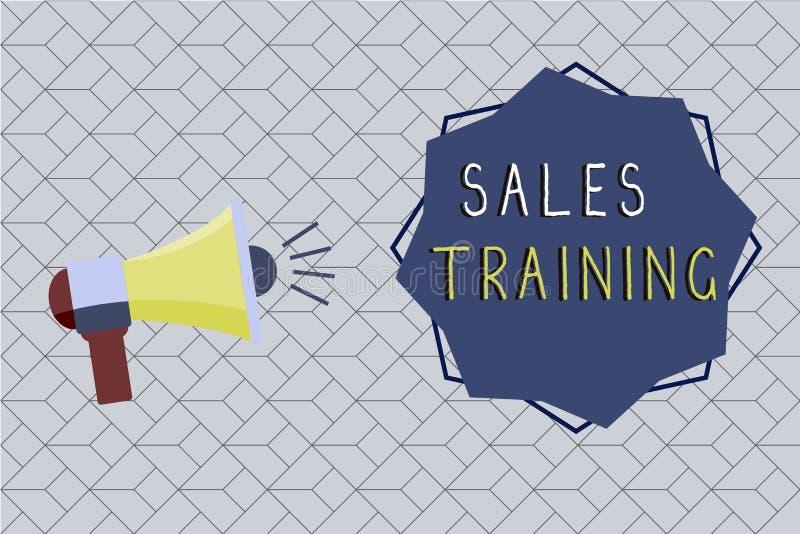 Treinamento de vendas do texto da escrita da palavra Conceito do negócio para a ação que vende o desenvolvimento pessoal da vista ilustração royalty free