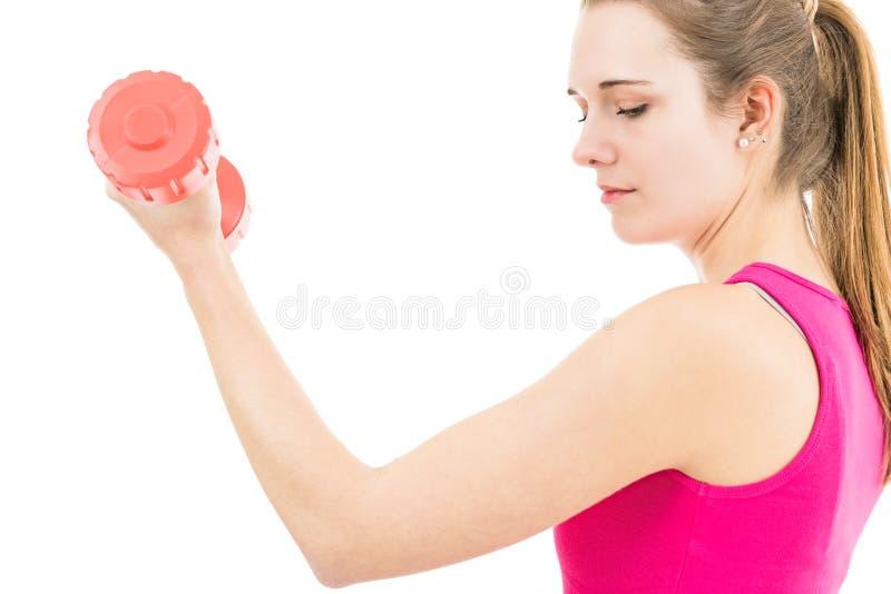 Treinamento desportivo da mulher imagem de stock royalty free