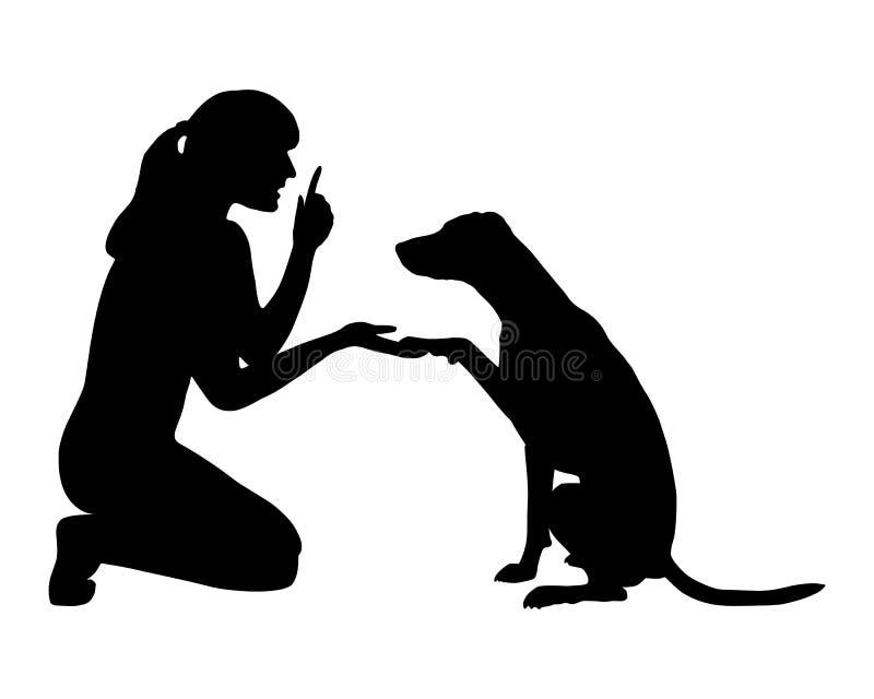 Treinamento do cão (obediência) ilustração royalty free