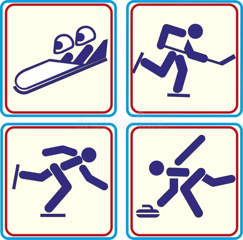 Treinamento do esporte do mundo, ícone, ilustrações ilustração royalty free
