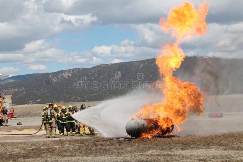 Treinamento do fogo imagens de stock royalty free