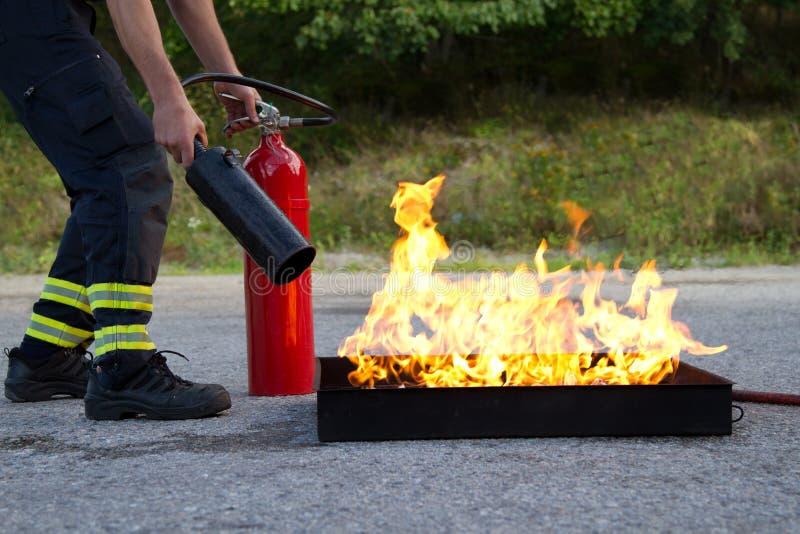 Treinamento do incêndio foto de stock royalty free