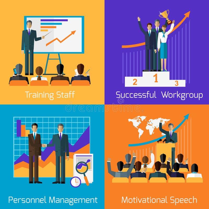 Treinamento do negócio Gestão inspirador do sucesso ilustração royalty free
