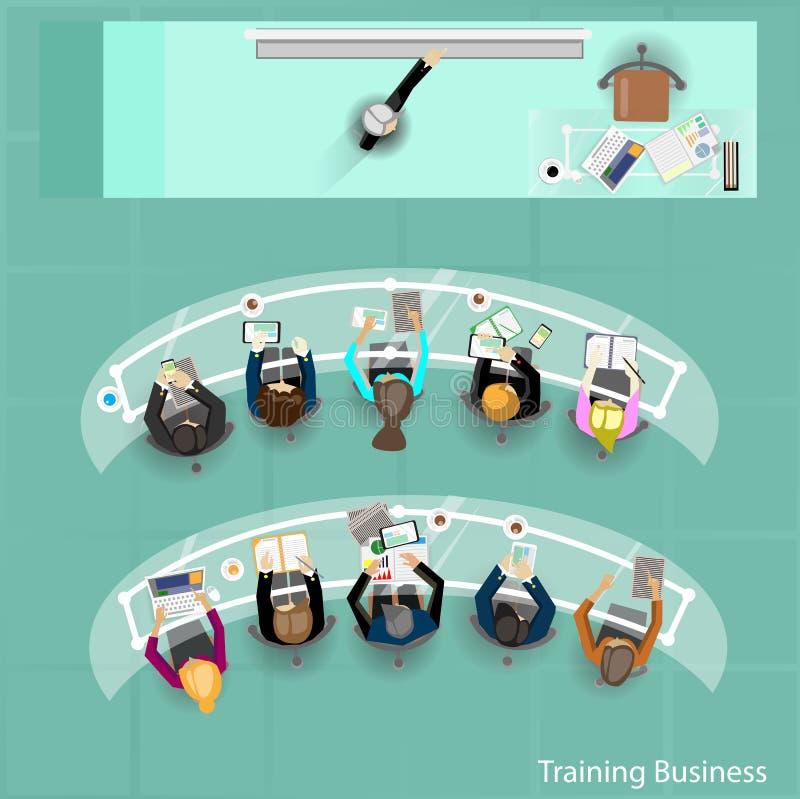 Treinamento do negócio no escritório ilustração royalty free