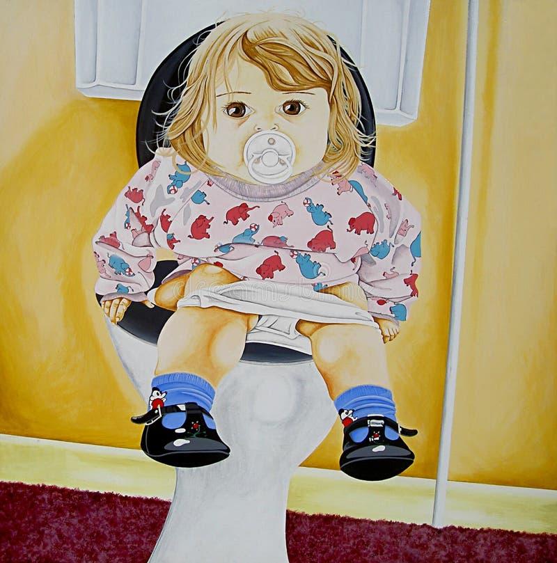 Treinamento do toalete ilustração stock