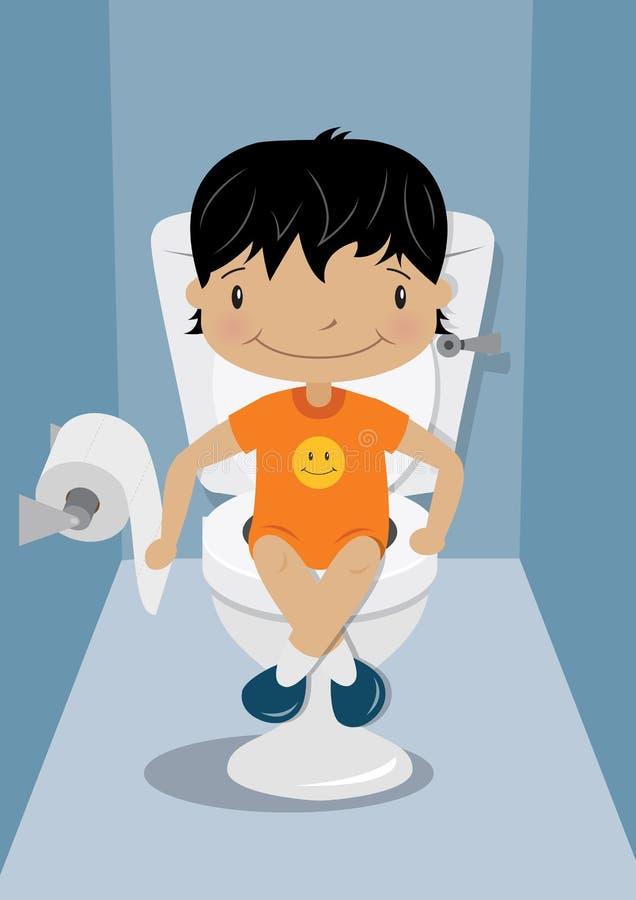 Treinamento do toalete das crianças ilustração royalty free