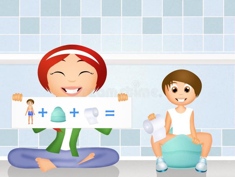Treinamento do urinol ilustração stock
