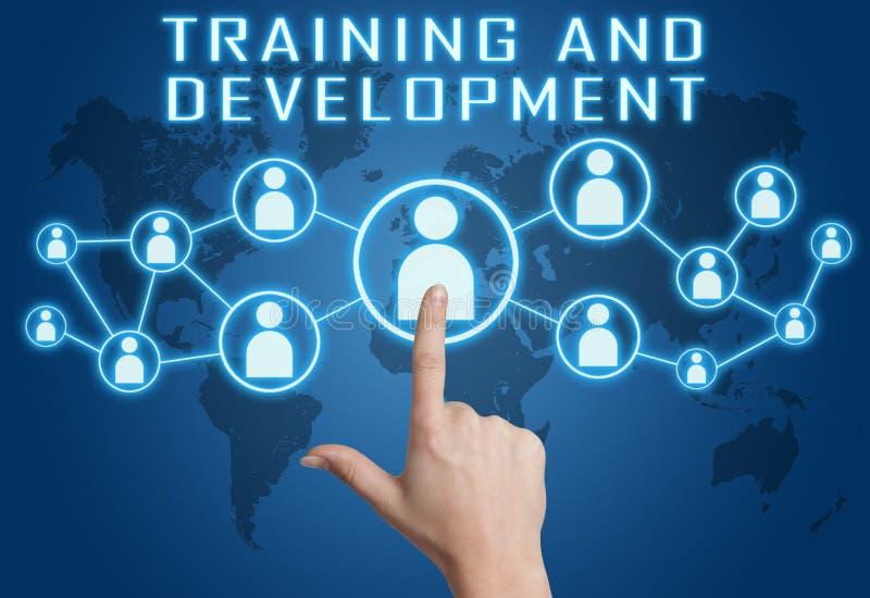 Treinamento e desenvolvimento ilustração stock