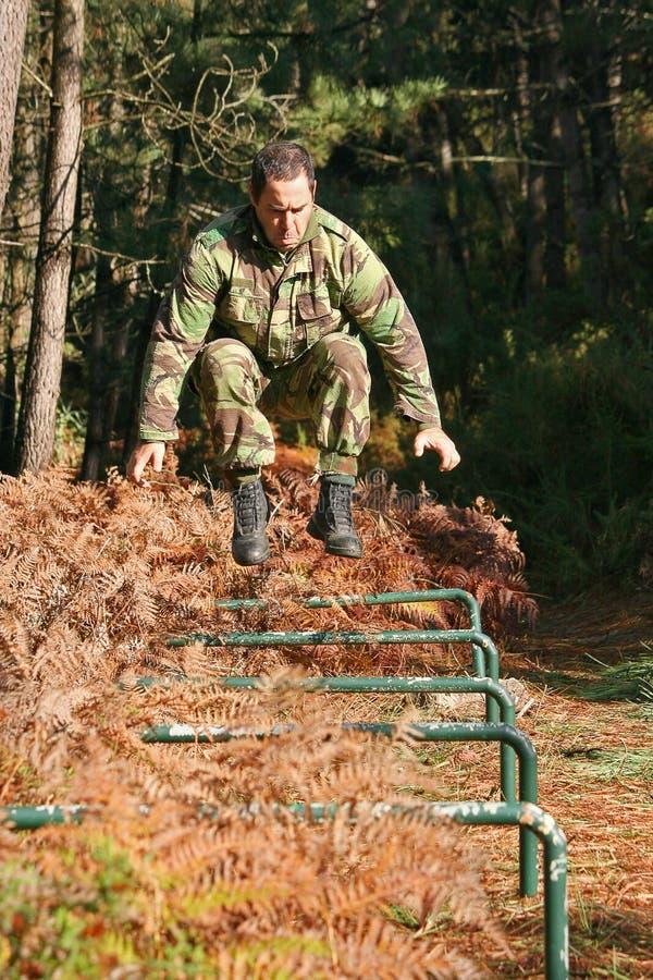 Treinamento físico militar foto de stock