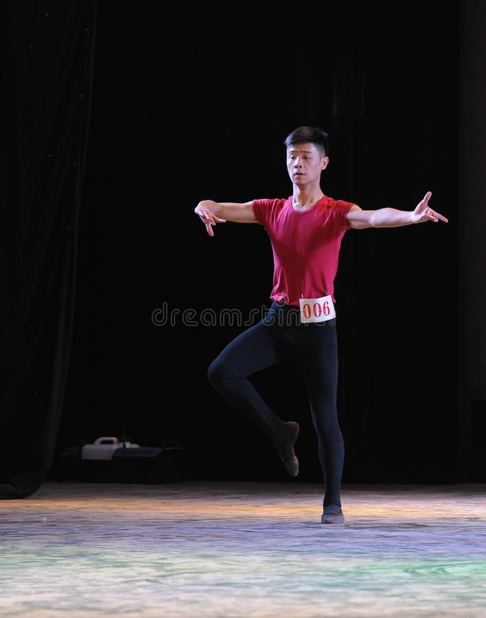 Treinamento nacional da dança do homem- novo do bailado imagem de stock royalty free