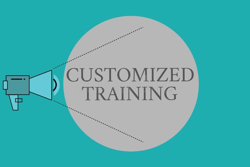 Treinamento personalizado da escrita da mão exibição conceptual O texto da foto do negócio projetou cumprir exigências especiais  ilustração royalty free