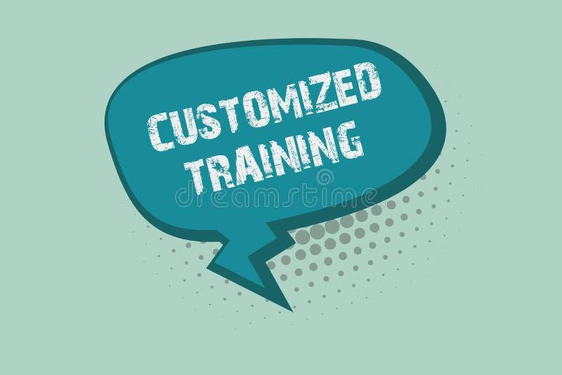 Treinamento personalizado escrita do texto da escrita O significado do conceito projetou cumprir exigências especiais dos emprega ilustração stock