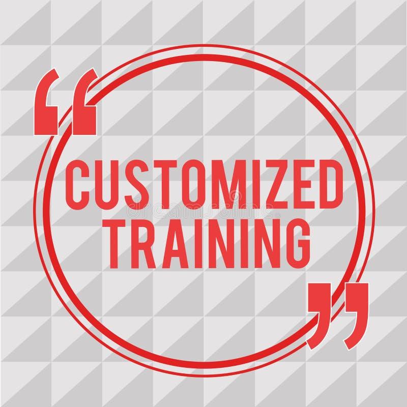 Treinamento personalizado exibição da nota da escrita Apresentar da foto do negócio projetou cumprir exigências especiais dos emp ilustração stock