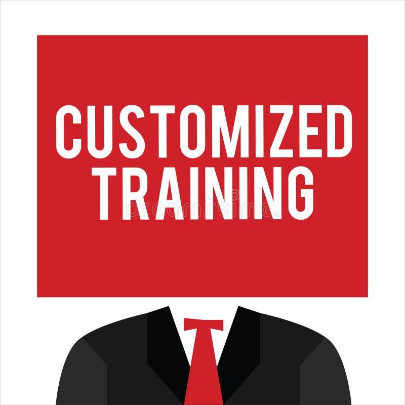 Treinamento personalizado texto da escrita O significado do conceito projetou cumprir exigências especiais dos empregadores ilustração royalty free