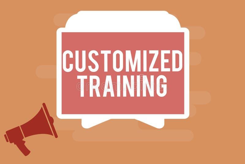 Treinamento personalizado texto da escrita da palavra Conceito do negócio para que projetado cumpra exigências especiais dos empr ilustração do vetor