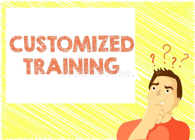 Treinamento personalizado texto da escrita da palavra Conceito do negócio para que projetado cumpra exigências especiais dos empr ilustração stock