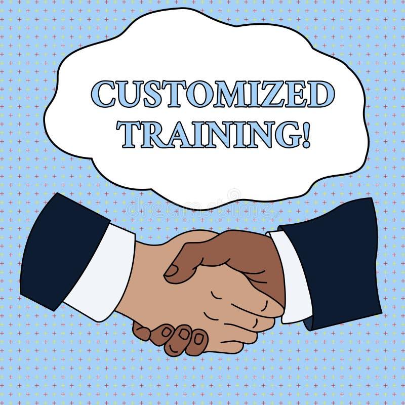 Treinamento personalizado texto da escrita da palavra O conceito do negócio para que projetado cumpra exigências especiais dos em ilustração royalty free