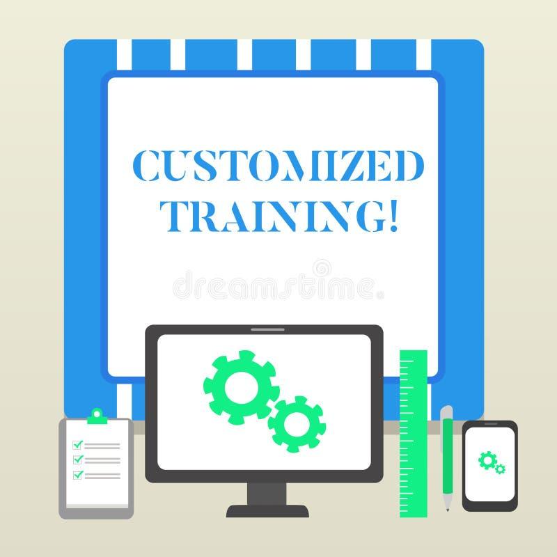 Treinamento personalizado texto da escrita Significado do conceito projetado cumprir exigências especiais do negócio dos empregad ilustração royalty free