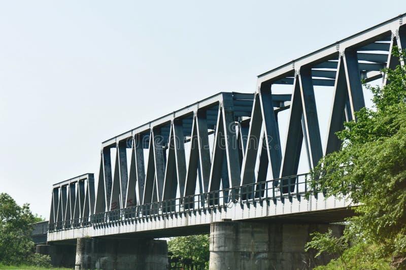 Treinbrug royalty-vrije stock afbeelding