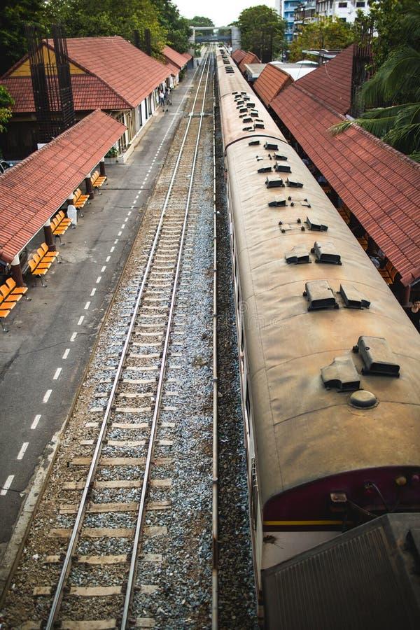 Treinen, één type van vervoer in Thailand royalty-vrije stock foto's
