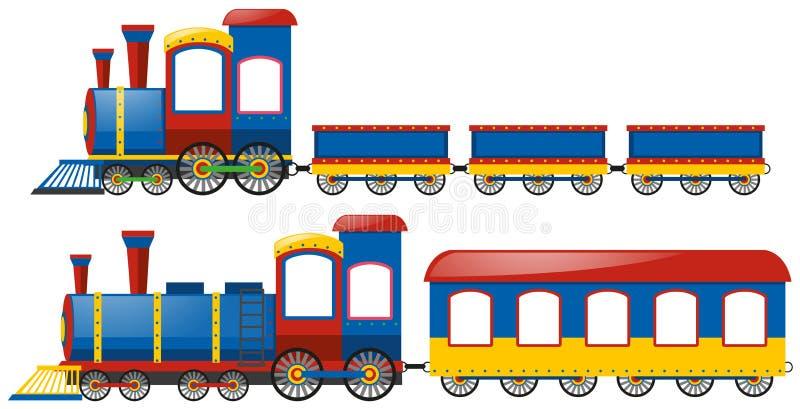 Treinen met twee types van wagens royalty-vrije illustratie