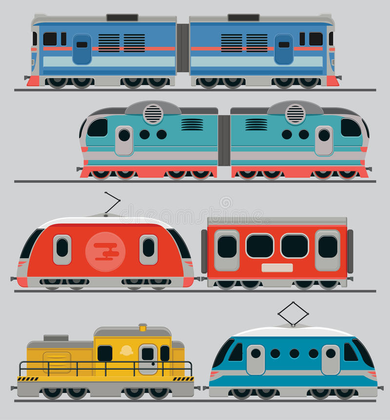 Treinlocomotieven stock illustratie