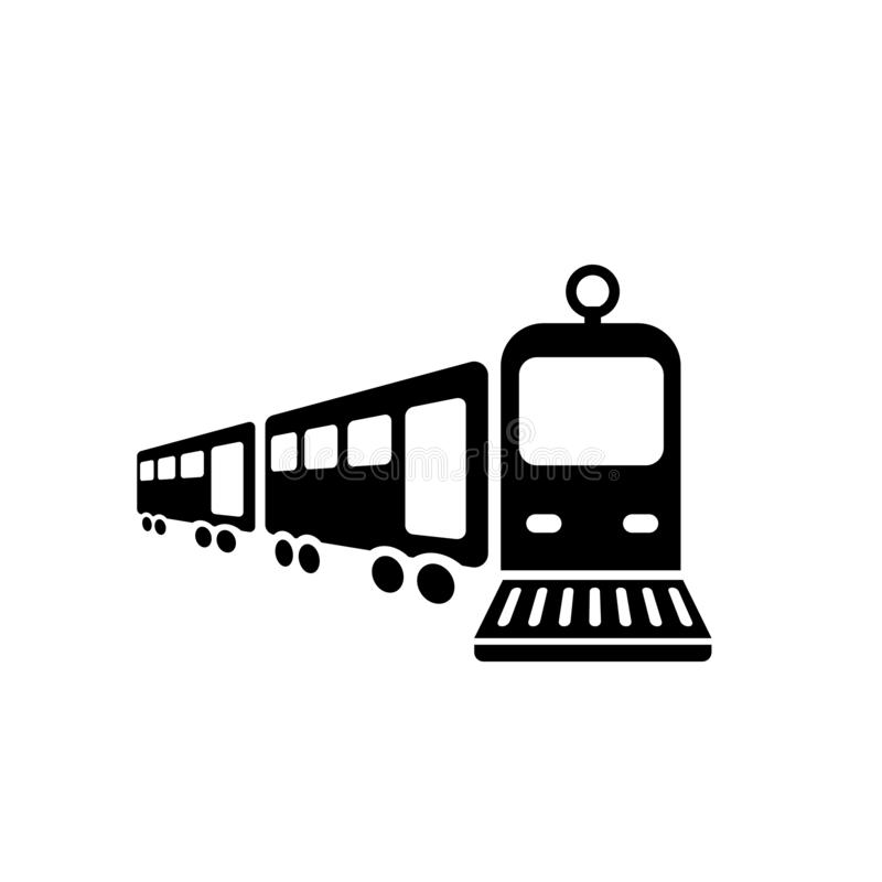 Treinpictogram  vector illustratie