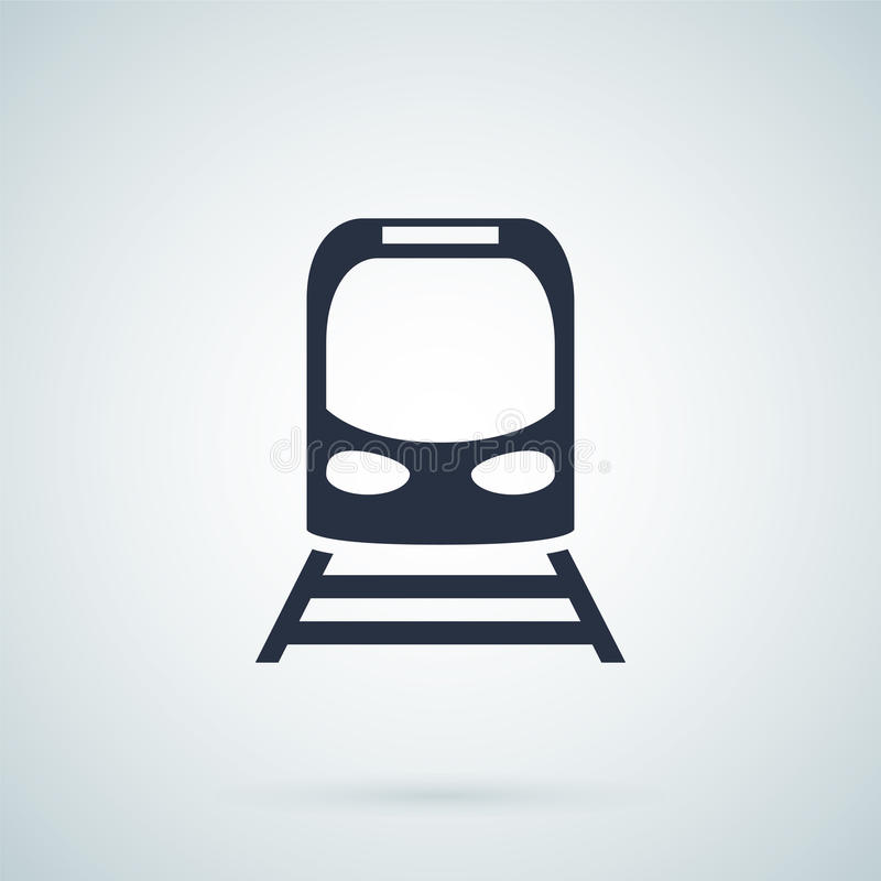 Treinpictogram, vectorillustratie vector illustratie