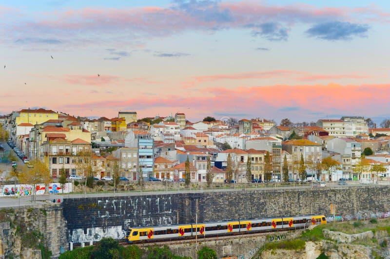 Treinreis aan Porto, Portugal stock fotografie