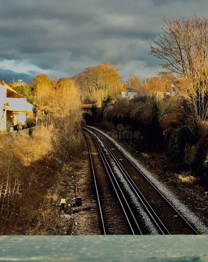 Treinsporen stock foto