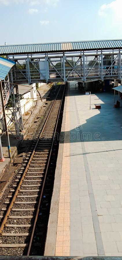 treinstation van bharuch in gujrat staat in india stock foto