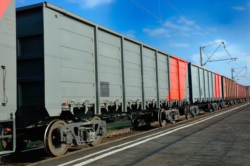 Treinwagens royalty-vrije stock afbeelding